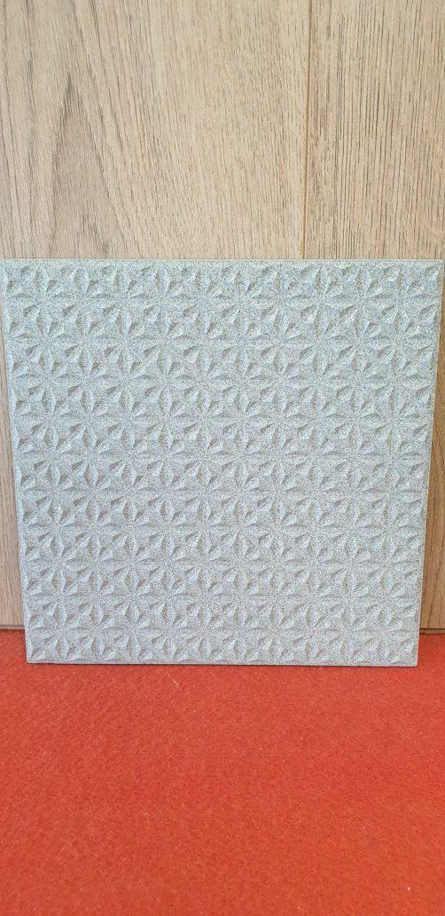 gres porcellanato tridimensionale lavorato 20*20 grigio